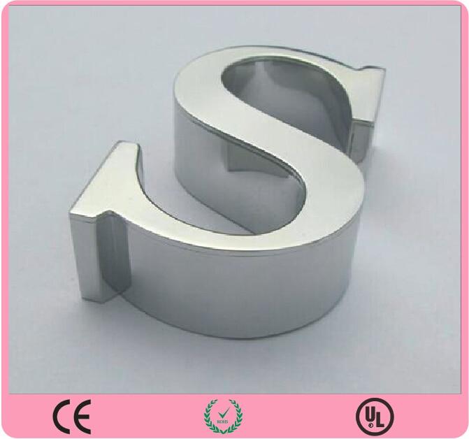 Aliexpresscom buy illuminated stainless steel letter for Stainless steel letters buy online