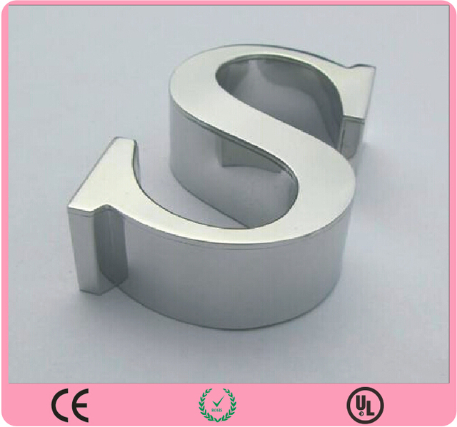 illuminated stainless steel letterstainless steel 3d letterbrush decorative metal letters
