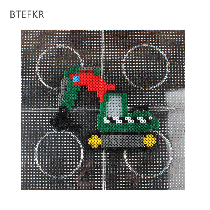 US $2 96 35% OFF|2 6mm/5mm Hama Bead Square Pegboard 3D Puzzle Template For  Perler Beads Education Toys Fuse Beads Jigsaw Puzzle Perle de Hama-in