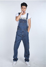 2015 New Denim Overalls Men, Trousers Suspenders, Plus Size Denim Jumpsuit, Harem Pants S M L XL 2XL 3XL 4XL 5XL