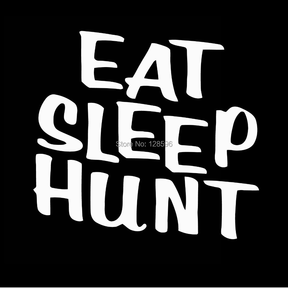 Eat sleep Hunt deer turkey shotgun bow hunting car truck vinyl decal sticker image
