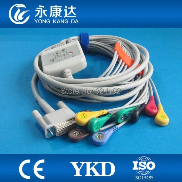 Trasporto libero Compatibile Schiller ECG cavo con 10 derivazioni, ECG del paziente cavo IEC di tipo A ScattoTrasporto libero Compatibile Schiller ECG cavo con 10 derivazioni, ECG del paziente cavo IEC di tipo A Scatto