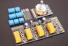 4 maneira de entrada de áudio escolher placa/placa de interruptor seletor de áudio estéreo para amp diy