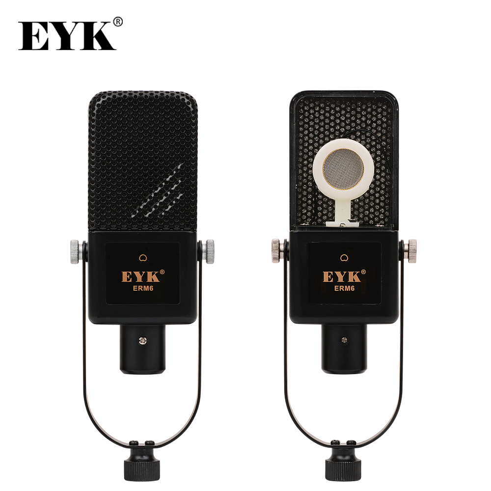 EYK ERM6 Professional Recording Condenser Microphone Podcast Karaoke Audio Studio Recording Mic Microfone for Computer Laptop