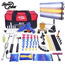 PDR Auto Dent Repair Tool set Dent removal tool kit Rutsche Hammer Aluminium lampe bord Dent Abzieher 68 stücke auto body repair tools