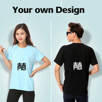 One can Custom Women Men KIDS quality 100% Cotton Shirt print your LOGO Picture short sleeve Jerseys Customized your own design
