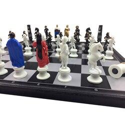 Высокое качество персонажа из мультфильма магниты международный шахматный Портативный шахматы обучения детей/подростков подарок для Лиде...
