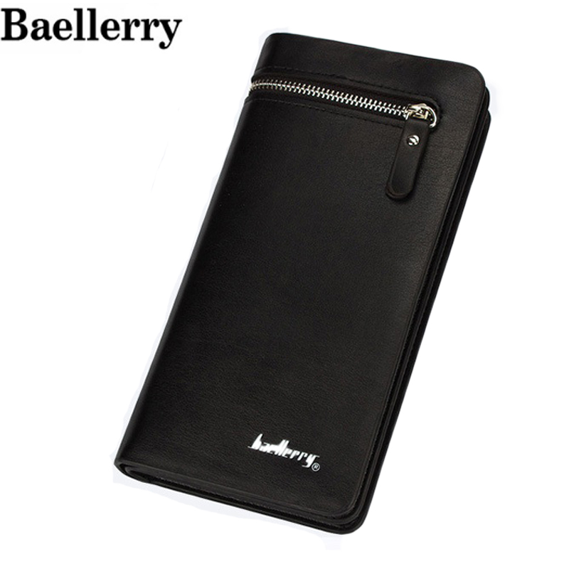Baellerry Long Fashion Brand Handy Card holder Men Wallets Purse Male Clutch Bags With Money Driving License Cover Walets Cuzdan fashion new men wallets baellerry brand male zipper purses long design men clutch bag cowhide card holder wallet for business