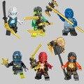 Горячая ninjagoeinglys строительный блок Кай Зейн Джей Коул Морро Призрак ниндзя с оружием кирпичи цифры совместимо с legoe игрушки