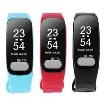 Водонепроницаемый Bluetooth браслет Приборы для измерения артериального давления сердечного ритма калорий, секундомер трекер Шагомер SmartBand Смарт Браслет