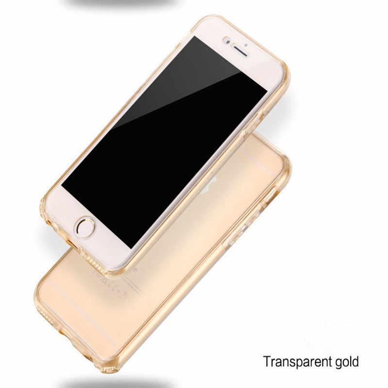 360 フル Tpu ケース iphone7 シリコーン Coque のために iphone4s 5 5 s SE 6 6 s 7 プラス Fundas フロント + バックカバー透明