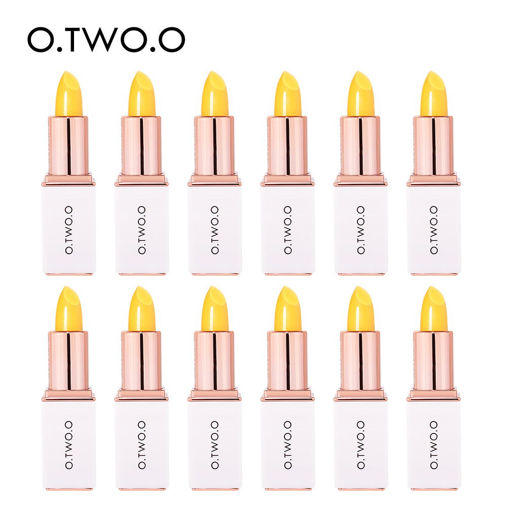 O.TWO.O 12pcs/set Colors Ever-changing Lip Balm Hygienic Moisturizing Pink Lipstick Anti Aging Makeup Kit Lip Care