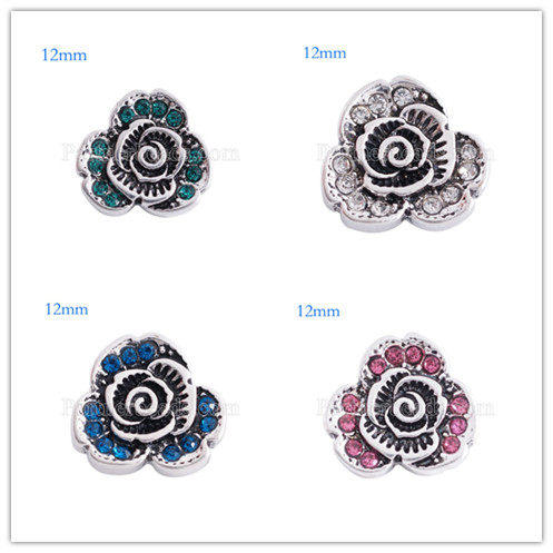 8//24pcs Tibetan Silver Flower Spacer Beads Bracelet Beading Findings 4x12mm