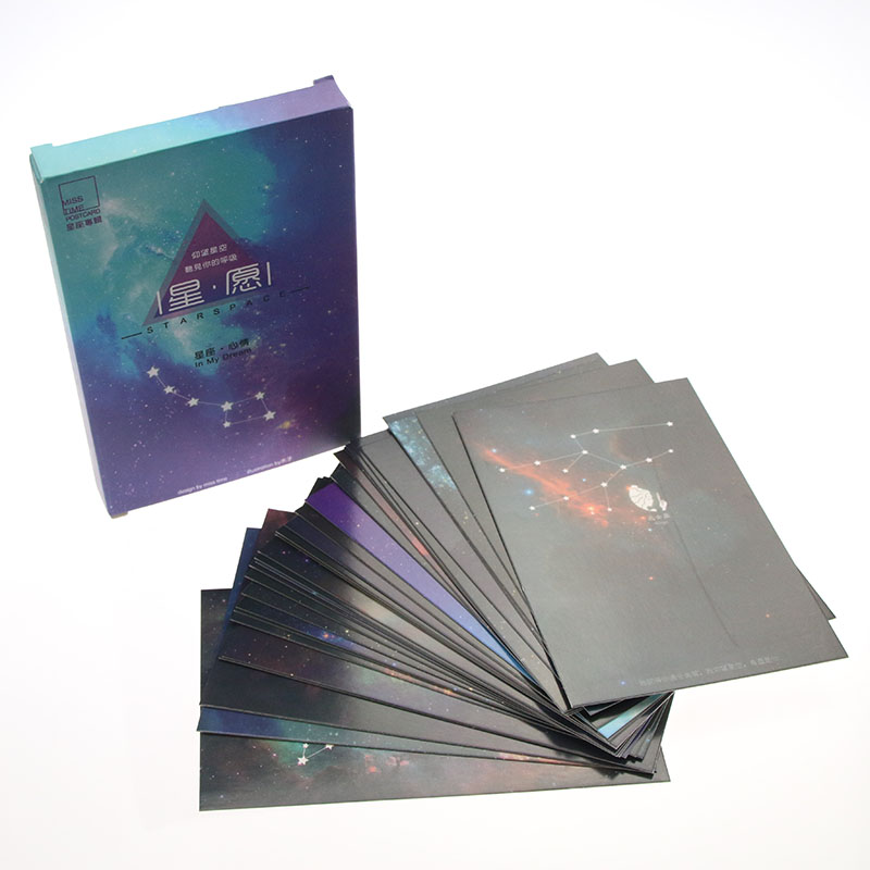 30sheets/LOT Luminous Constellation Postcard /Greeting Card/Wish Card/Christmas and New Year gifts ...