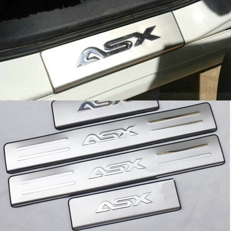 Scuff-Plate Door-Sill Car-Accessories Lancer Mitsubishi Stainless-Steel For ASX 4pcs/Set