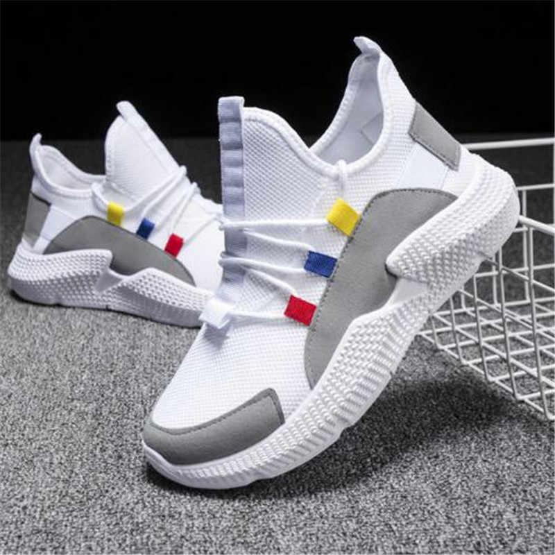 HEFLASHOR 2019 รองเท้าสตรีขนาด 36-40 ผู้ชายรองเท้าผ้าใบฤดูร้อน Breathable Krasovki รองเท้าชายรองเท้า Tenis Masculino รองเท้าผ้าใบ
