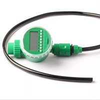 バッテリー電源マイクロ灌漑タイマーキットlcdディスプレイ屋外防水電子散水時間コントローラ付きギフトパーツ