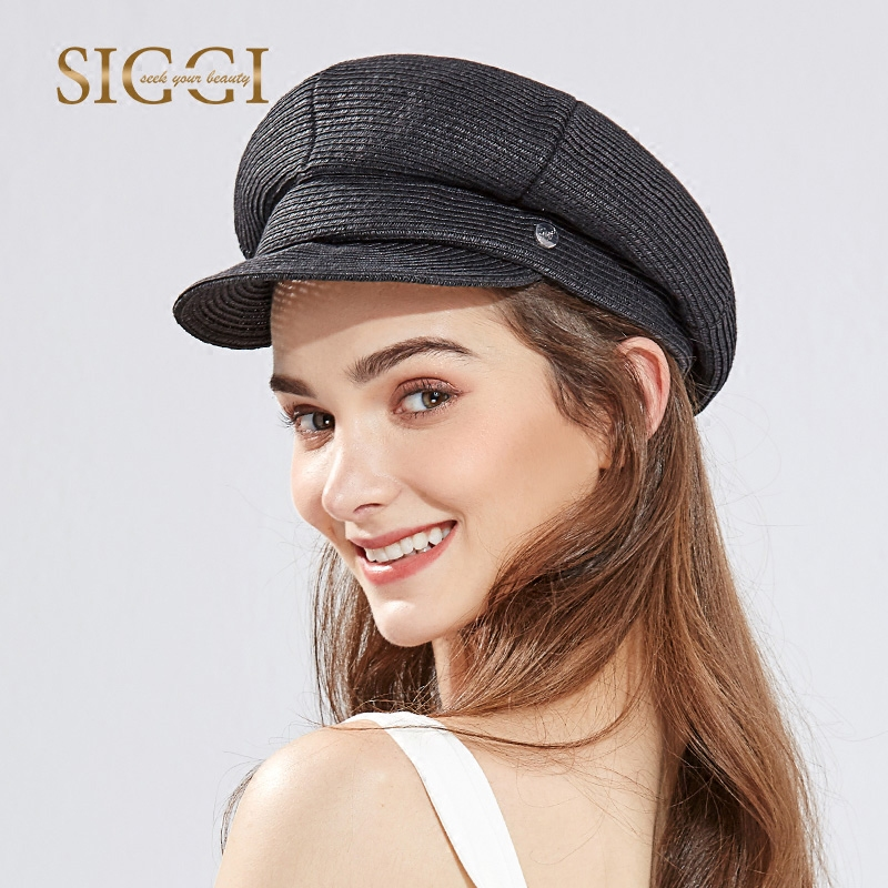 Lady New Straw Baseball Hat Female Summer Straw Sun Cap Students Beret Leisure Duck Tongue Hat Travel Sun Cap B-8074 stetson men s breakers premium shantung straw hat