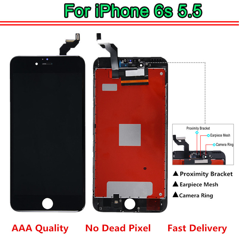 100% Test For <font><b>iPhone</b></font> <font><b>6S</b></font> Plus 5.5 LCD Touch Screen Replacement <font><b>Ecran</b></font> LCD Display Assembly with 3D Touch Fast Delivery image