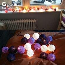 Christmas Fairy String Lights,Home Decoration Fiestas Lamp,Garland Strip lighting Wedding luminarias,110/220V 20pcs Cotton ball