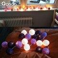 Fada do natal Luzes Cordas, Lâmpada de Casa Decoração Festas, Guirlanda luminarias Casamento iluminação de Tira, 110/220 V 20 pcs bola de Algodão