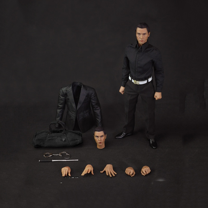 1/6 HK CID Senior Inspector Donnie Yen Sir Collcection Action Figure With Two Heads for Gifts Toys Collections 2