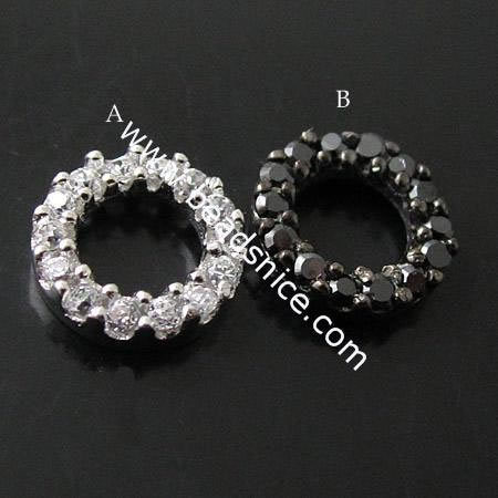 fine 925 jewelry connector round pendant links for pendants components connectors for bracelet or pendants ID21401