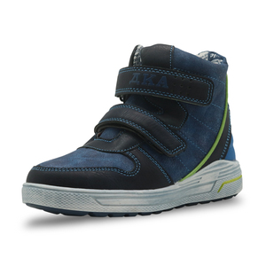 Image 2 - Apakowa autunno ragazzi stivali doppio gancio e passanti stivali a molla per bambini con Design a Zip per bambini bambini gambe larghe vestito scarpe per bambini
