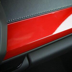 Image 5 - Внутренние наборы SHINEKA ABS, украшение для пассажирской боковой панели, отделка из углеродного волокна для 6 го поколения Chevrolet Camaro 2017 +