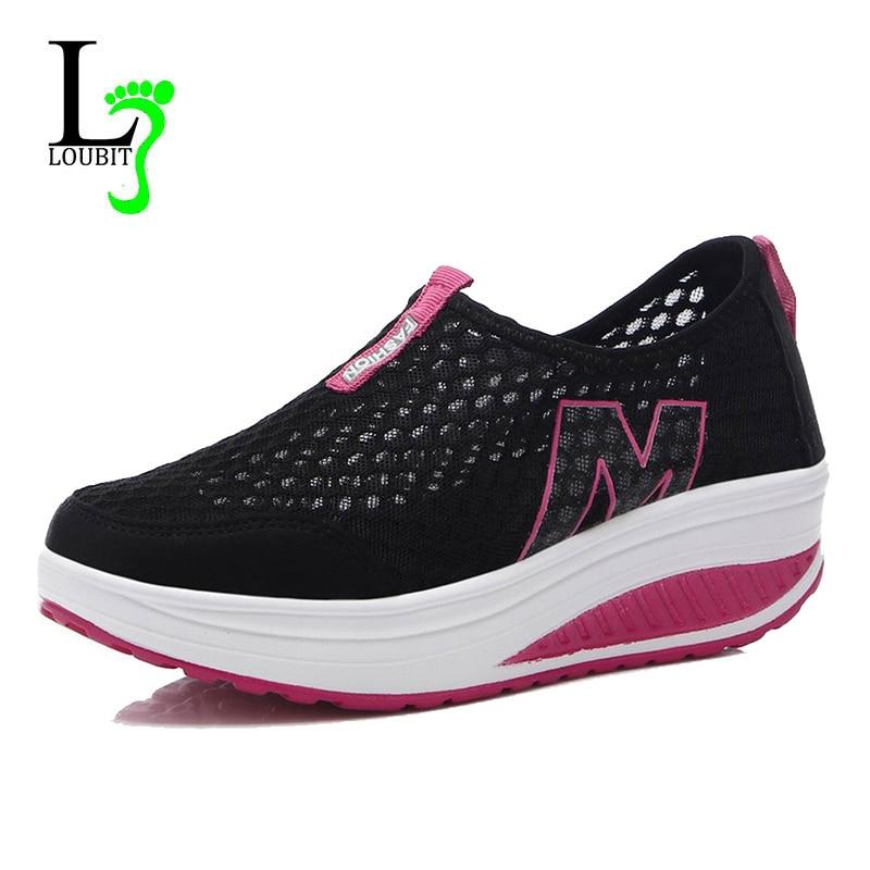 Женская Повседневная обувь летние сетчатые дышащие Обувь для танцев женские Zapatos Mujer плоская платформа досуг Женские туфли-лодочки Мокасины 35-42