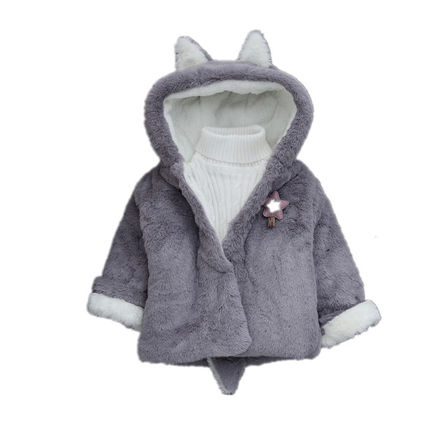 cc6fa8e74513 Toddler girls jacket animal rabbit design cotton spring autumn baby ...