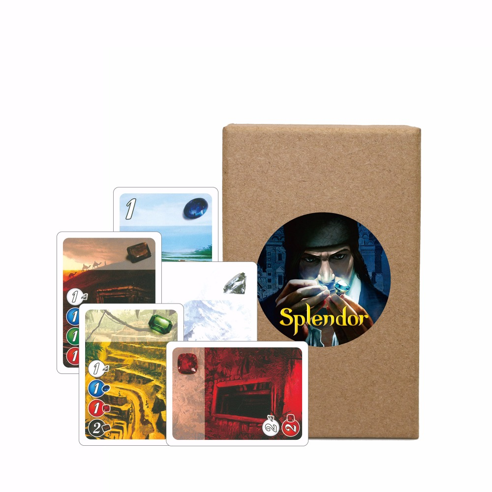 Splendor Board Game Full English Version Carton Box Investment & Financing Family Playing Cards Game