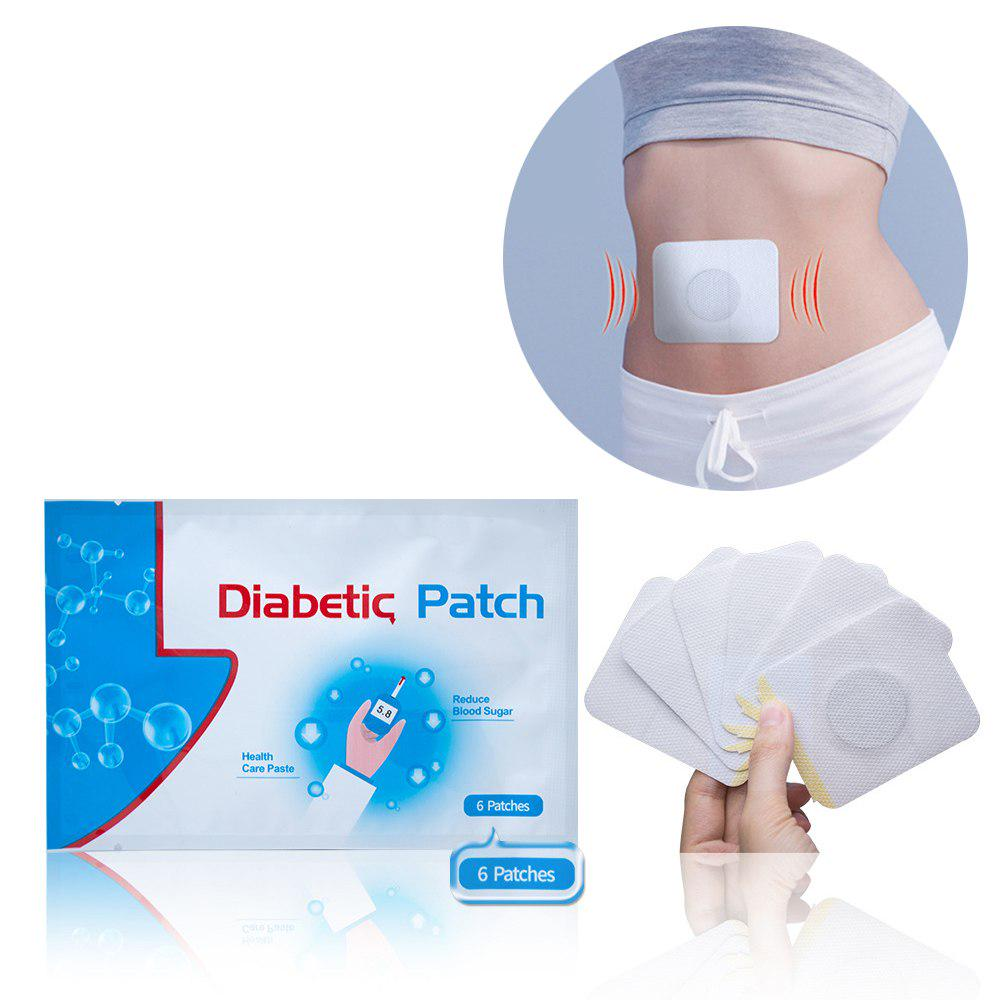 6PCS/PACK Natural Diabetic Patch Stabilize Blood Sugar Lower Blood Glucose Herbal Plaster