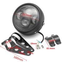 Universal 6 5 Motorcycle LED Projector Headlight Lamp With Bracket Screws For Harley Motorbikes Metric Bikes