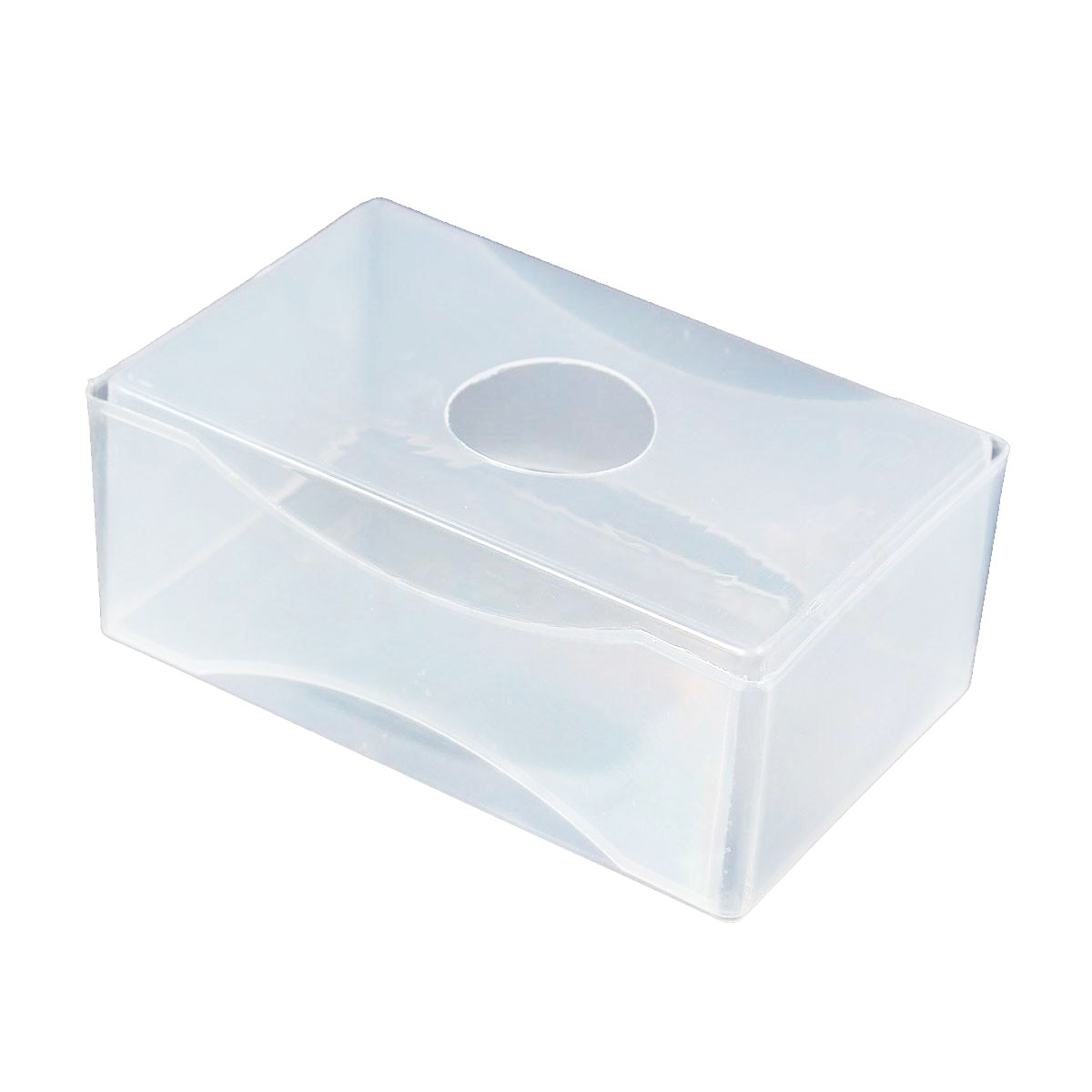 10 X Business Card Box Plastic Holders Clear Craft Beads Container Storage Boxes White