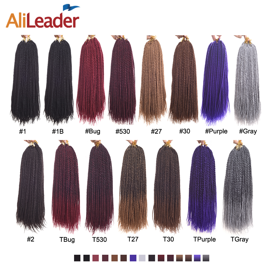 Alileader Kanekalon Synthetic Hair Brands 18 30strands Senegalese Twist Crochet Braid Ombre Burgundy Purple Gray 15colors In Braids