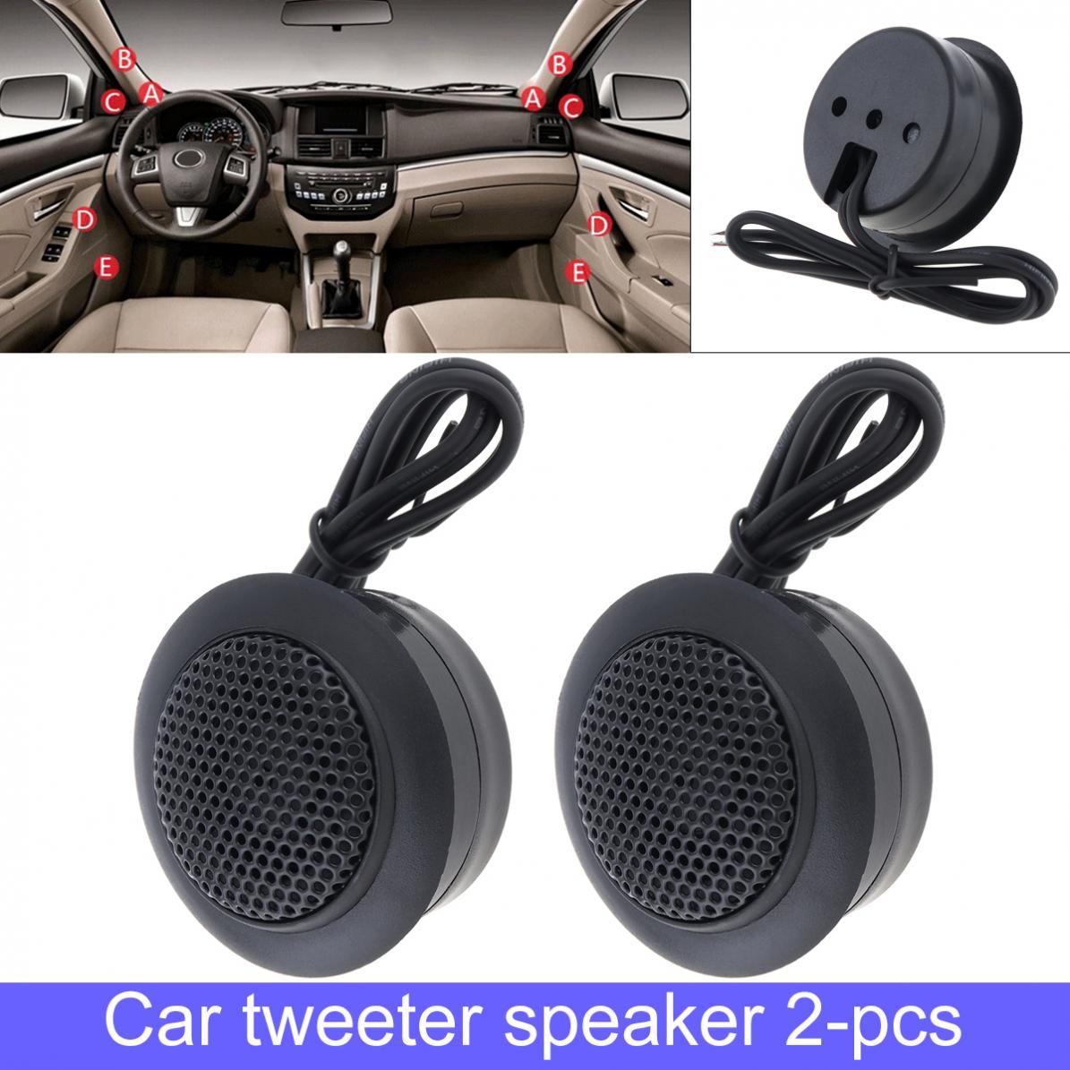 Car Tweeter Speaker Stereo Music Dome Horn Mini Portable Car Tweeter Speaker Auto Audio System Car Audio Loudspeakers Modification Stereo Speaker