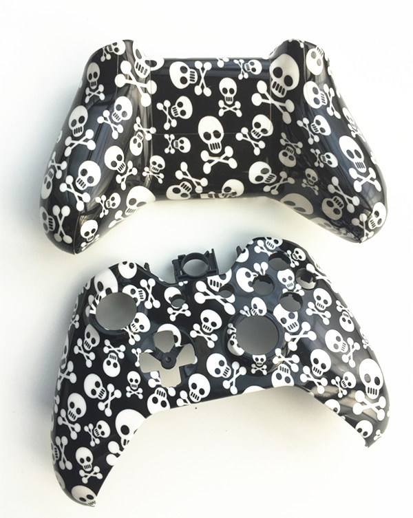 Custom Skull Design Front Back shell Controller case Skin cover For Microsoft XBOX One Wireless Controller