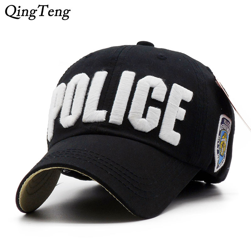 Luxury Embroidery Police   Baseball     Cap   100% Cotton Parent-Child Hat For Girl Boys Casual Sun Men Bone Fashion Brand Snapback   Caps