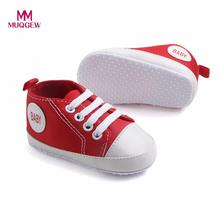 MUQGEW Toddler Shoes Newborn Infant Baby Boys Girls Solid Canvas Anti-slip Soft Shoes Sneaker Fashion Patch Cotton Shoe For baby(China)