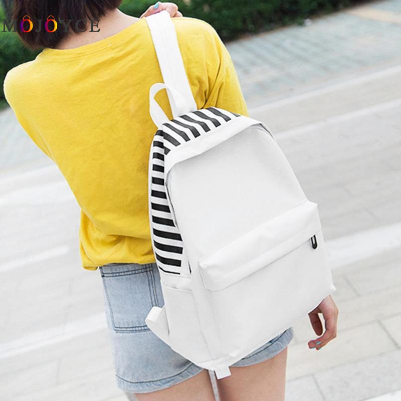 цены на School Backpacks for Teenage Girls Simple Canvas Women Shoulder Backpack Female Casual Travel Bags Mochila Feminina