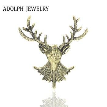 ADOLPH biżuteria hurtowych 2017 nowy projekt akcesoria uderza piłkę głową na długi Elk metalowe Best Hunter broszka Pins wysokiej jakości dla kobiet /mężczyźni