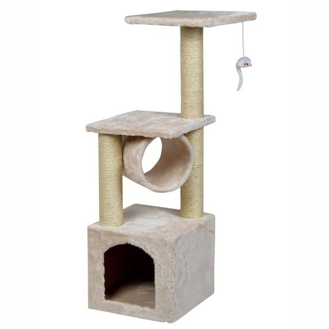 36inch Pet Cat Climbing Frame Tree Condo Furniture Scratching Post Kitten  Pet Play Toy House Multi