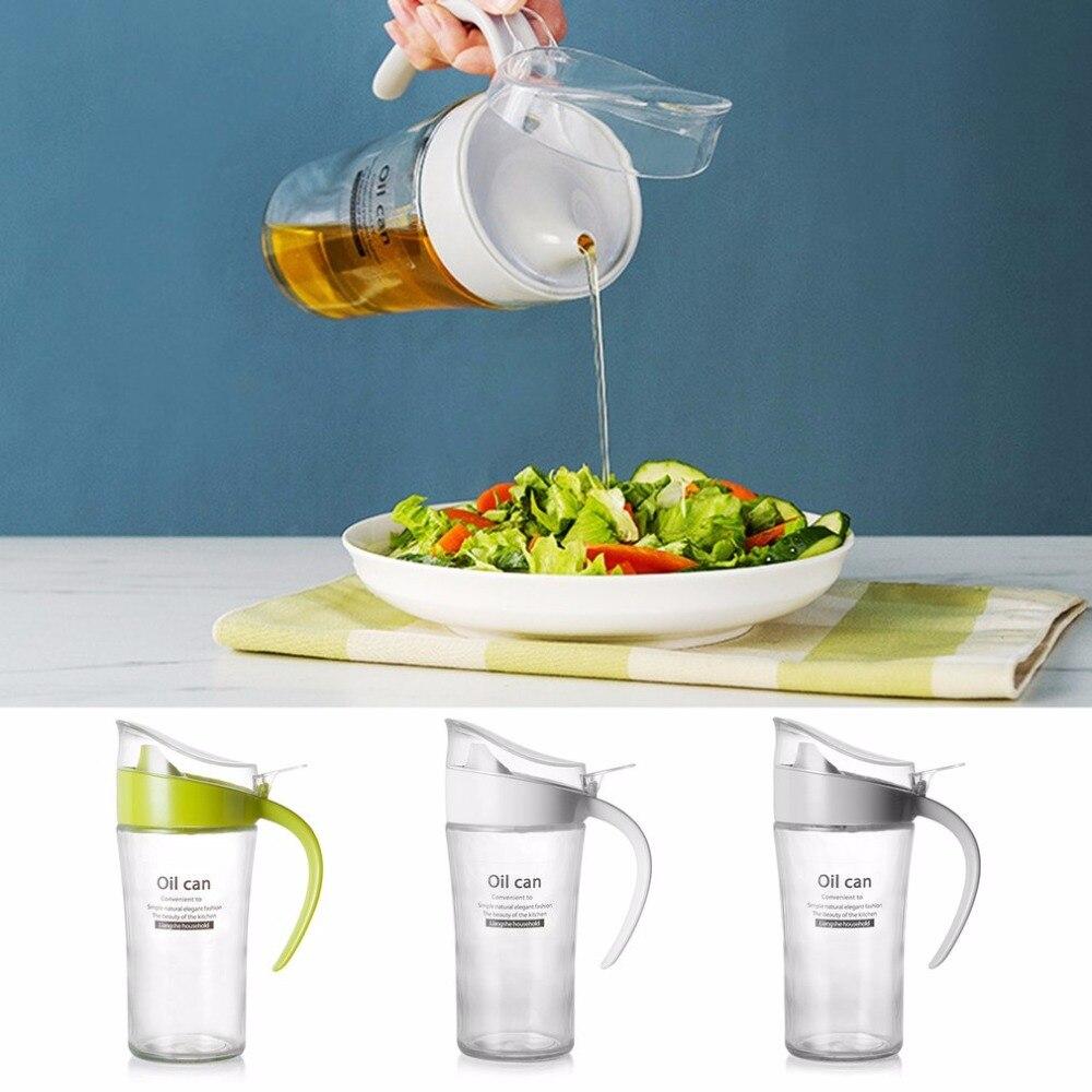 500g OC Large-Capacity Oil Tanker Leak Proof Glass Oiler Seasoning Bottle Bottle of Soy Sauce Kitchen Supplies
