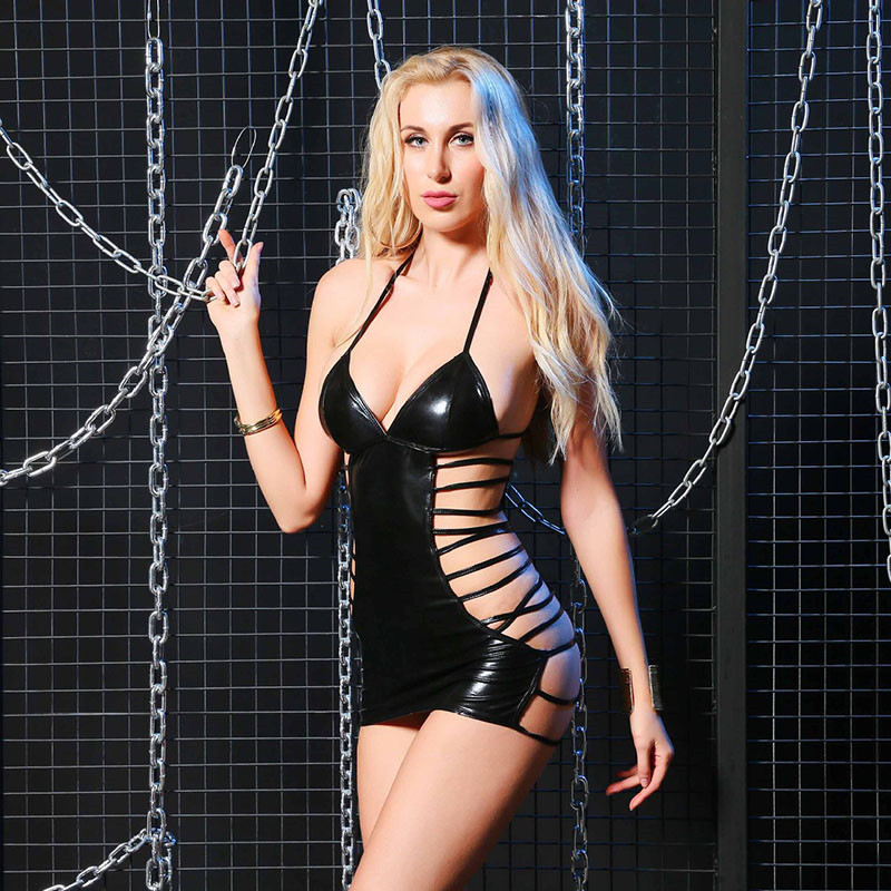 Women Latex Lingerie Sexy Hot Erotic Porno Babydoll Sexy Erotic Lingerie Hot Pole Dance Cosplay Porno Costumes Underwear in Babydolls Chemises from Novelty Special Use
