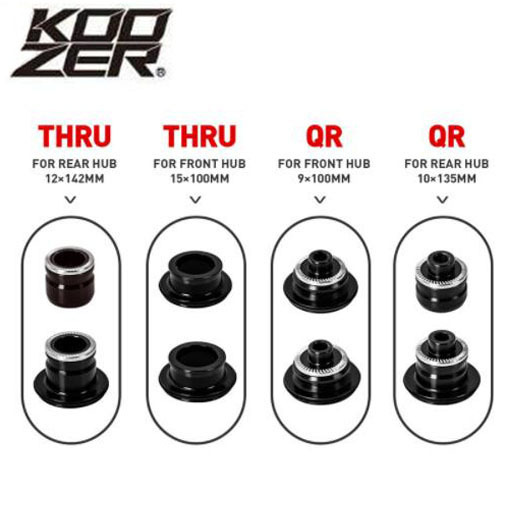 Koozer XM490 Hub Caps MTB Bicycle Hubs Converters ATV Hubs End Cap QR From THRU For The Rear Hub Bicycle Accessories