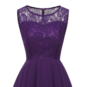 Image 4 - OML 536#Summer Sexy Lace Chiffon Violet Pink Bridesmaid Dresses Short long wholesale prom party Dress girl cheap wholesale women