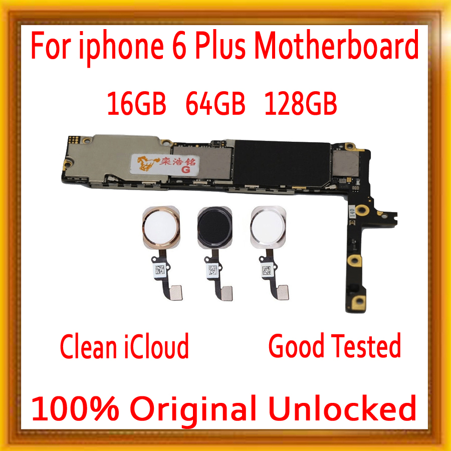 Con Touch ID/senza Touch ID per iphone 6 Plus Scheda Madre con Pieno sbloccato, originale di 100% per iphone 6 P Mainboard MB PiattoCon Touch ID/senza Touch ID per iphone 6 Plus Scheda Madre con Pieno sbloccato, originale di 100% per iphone 6 P Mainboard MB Piatto