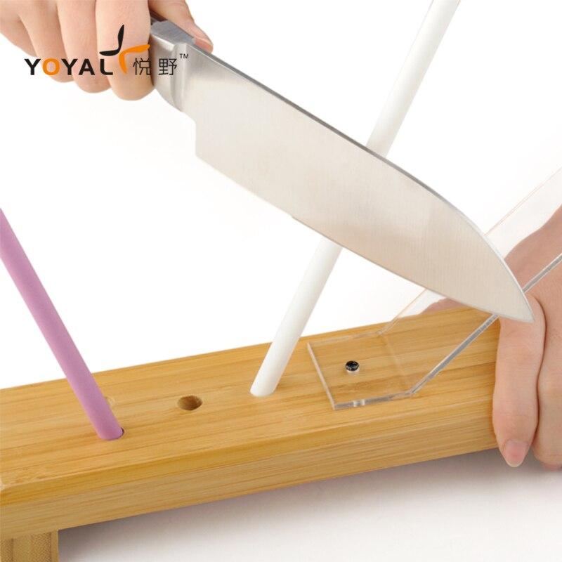 Точилка для ножей профессиональный керамический нож система заточки многофункциональный угол керамический стержень нож шлифовальный ста...
