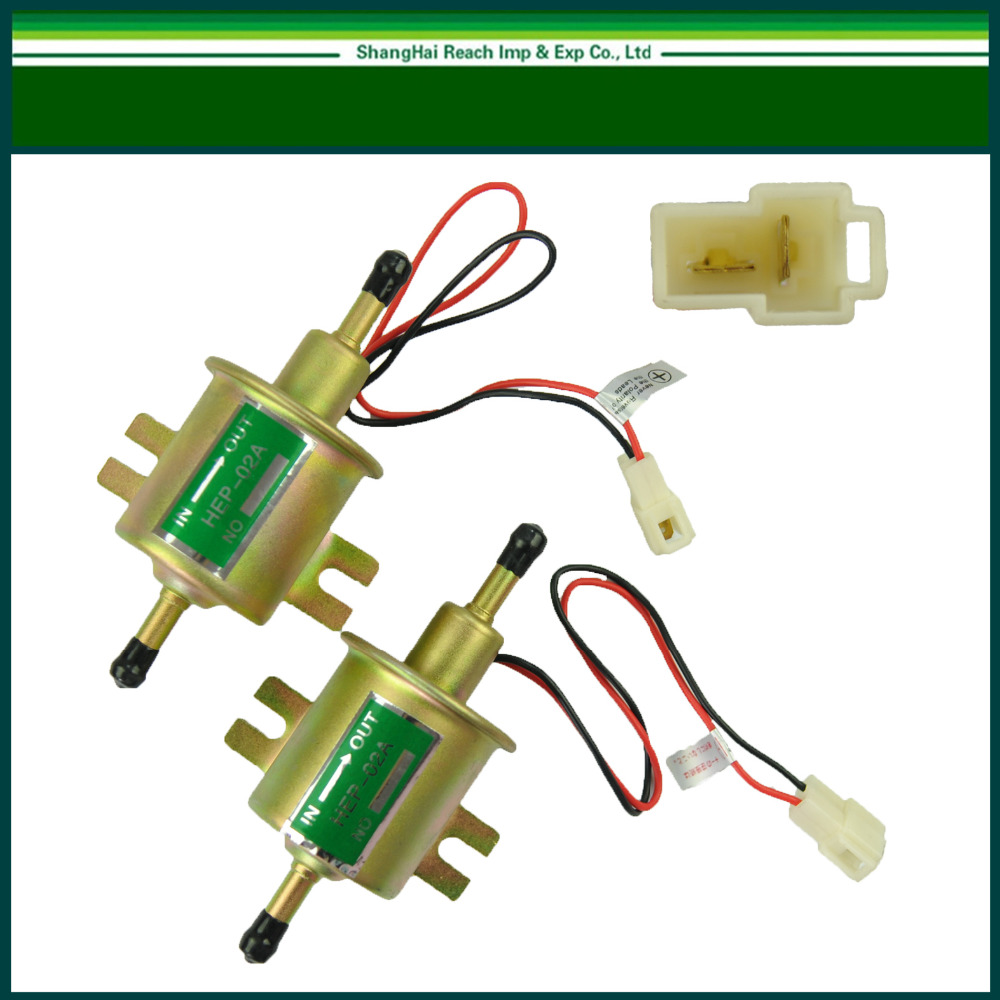 1 Pair set 12V Universal liquid Petrol Gasoline Gas liquid Inline <font><b>Low</b></font> Pressure Electric <font><b>Fuel</b></font> <font><b>Pump</b></font> HEP-02A 6-9PSI
